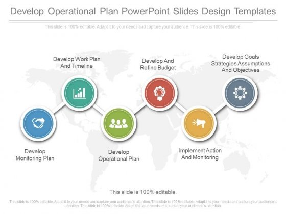 Develop Operational Plan Powerpoint Slide Design Templates