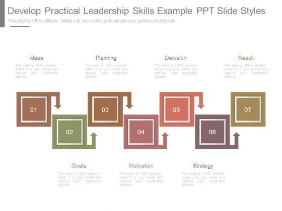 Develop Practical Leadership Skills Example Ppt Slide Styles