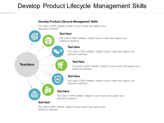 Develop Product Lifecycle Management Skills Ppt PowerPoint Presentation Model Themes Cpb