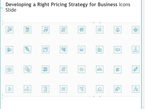 Developing A Right Pricing Strategy For Business Icons Slide Ppt Infographics Themes PDF