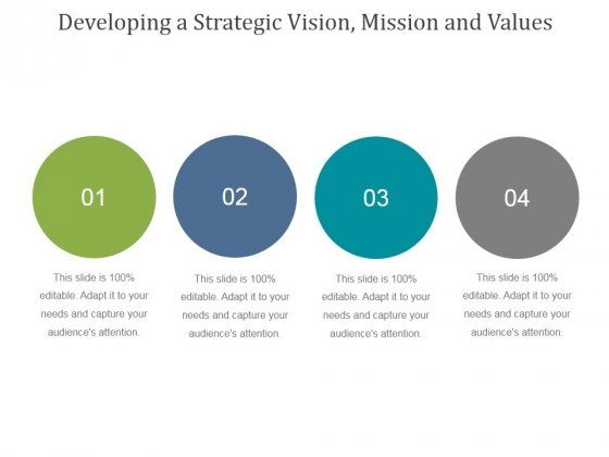 Developing A Strategic Vision Mission And Values Ppt PowerPoint Presentation Slides