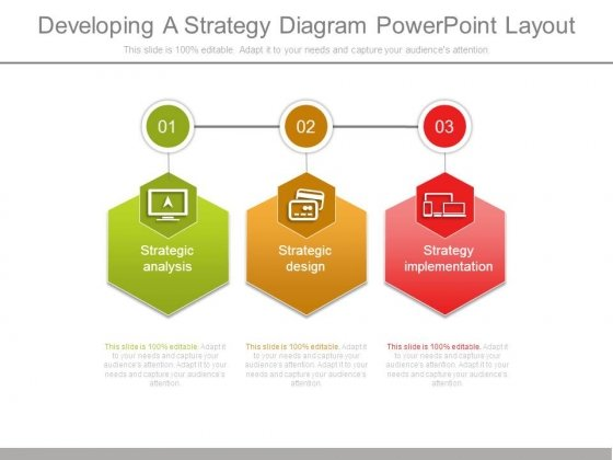 Developing A Strategy Diagram Powerpoint Layout