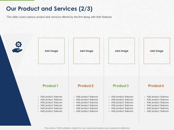 Developing And Creating Corner Market Place Our Product And Services Management Ppt PowerPoint Presentation Gallery Design Templates PDF
