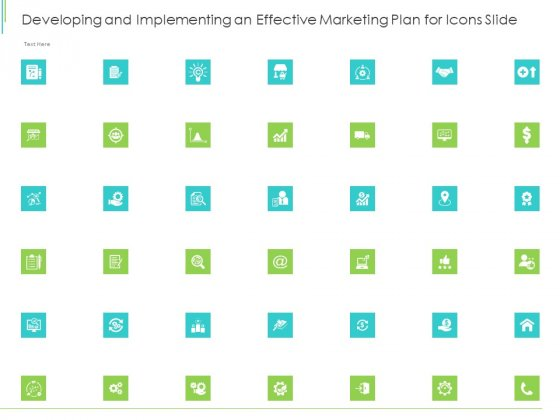 Developing And Implementing An Effective Marketing Plan For Icons Slide Icons PDF