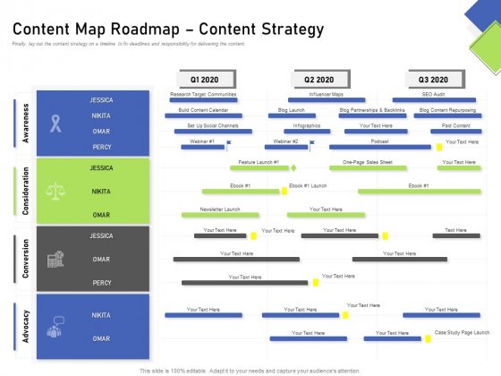 Developing Content Mapping Strategy Content Map Roadmap Content Strategy Ppt Outline Design Inspiration PDF