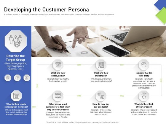 Developing Content Mapping Strategy Developing The Customer Persona Ppt Icon Show PDF