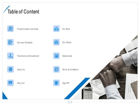 Developing Content Strategy Table Of Content Ppt Gallery Visuals PDF