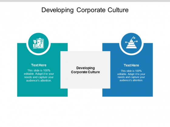 Developing Corporate Culture Ppt PowerPoint Presentation Styles Designs Cpb