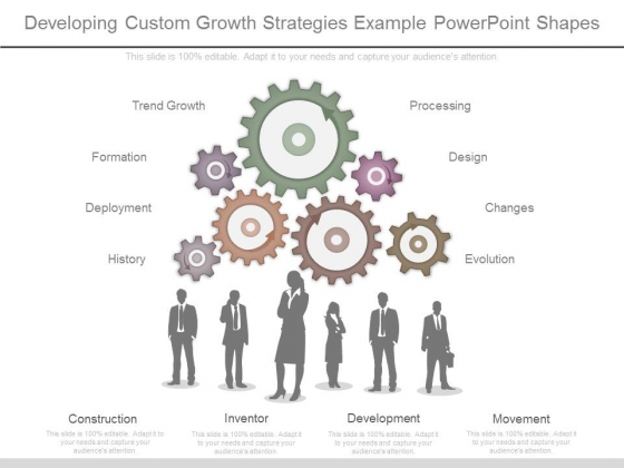 Developing Custom Growth Strategies Example Powerpoint Shapes