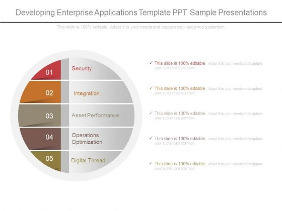 Developing Enterprise Applications Template Ppt Sample Presentations