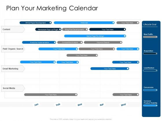 Developing Implementing Organization Marketing Promotional Strategies Plan Your Marketing Calendar Pictures PDF