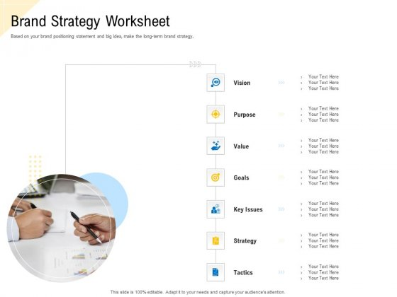 Developing Market Positioning Strategy Brand Strategy Worksheet Portrait PDF