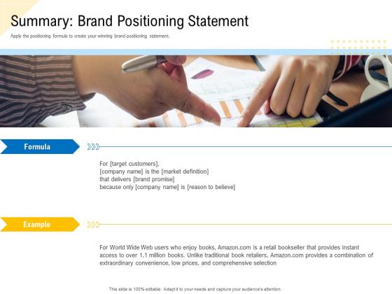 Developing_Market_Positioning_Strategy_Summary_Brand_Positioning_Statement_Slides_PDF_Slide_1