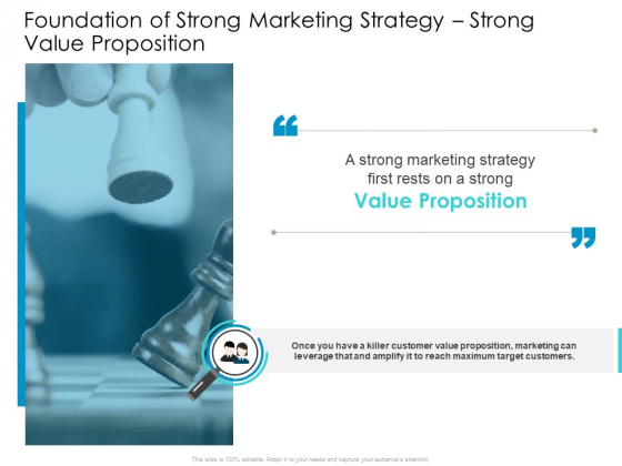Developing New Sales And Marketing Strategic Approach Foundation Of Strong Marketing Strategy Strong Value Proposition  Formats