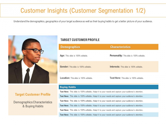 Developing New Trade Name Idea Customer Insights Customer Segmentation Customer Ppt Icon Images PDF