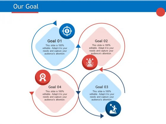 Developing Product Planning Strategies Our Goal Ppt PowerPoint Presentation Slides Styles PDF