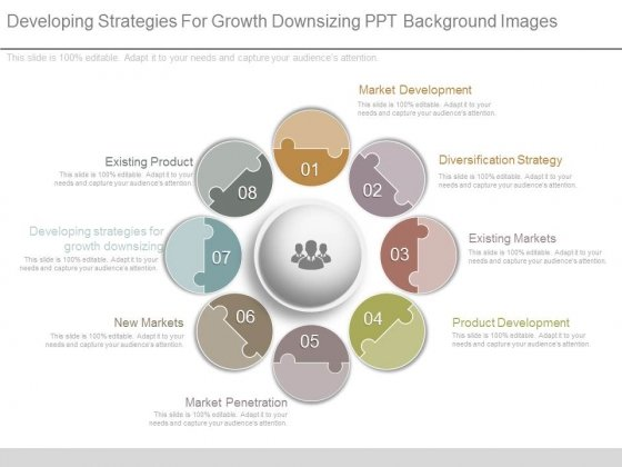 Developing Strategies For Growth Downsizing Ppt Background Images