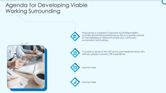 Developing Viable Working Surrounding Agenda For Developing Viable Working Surrounding Infographics PDF