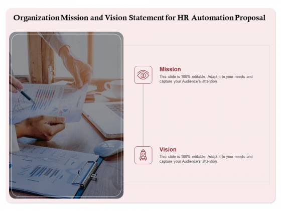 Development And Implementation Organization Mission And Vision Statement For HR Automation Proposal Information PDF