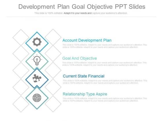 Development Plan Goal Objective Ppt Slides