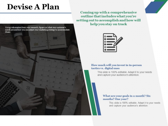Devise A Plan Ppt PowerPoint Presentation Model