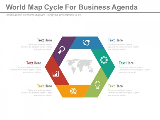 Diagram For Global Business Strategy Powerpoint Template