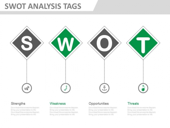 Diagram For Swot Analysis Definition Powerpoint Template