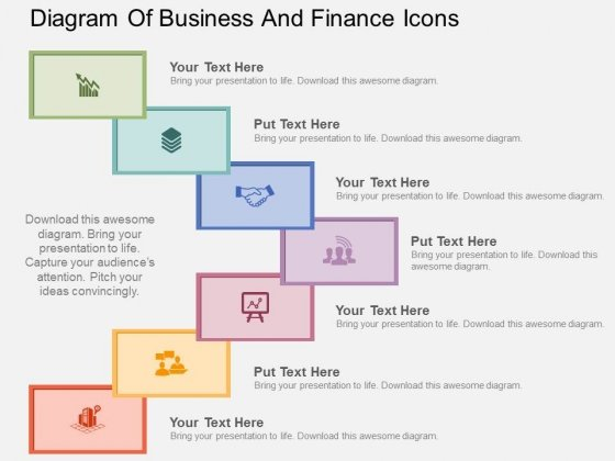 Diagram Of Business And Finance Icons Powerpoint Templates