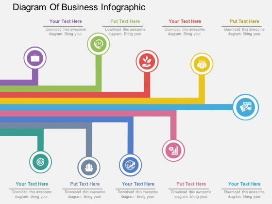Diagram Of Business Infographic Powerpoint Template