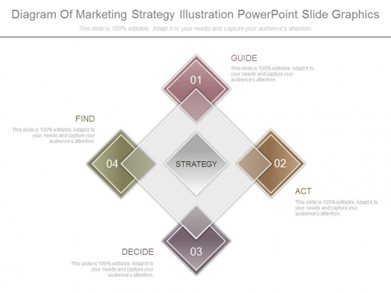Diagram Of Marketing Strategy Illustration Powerpoint Slide Graphics