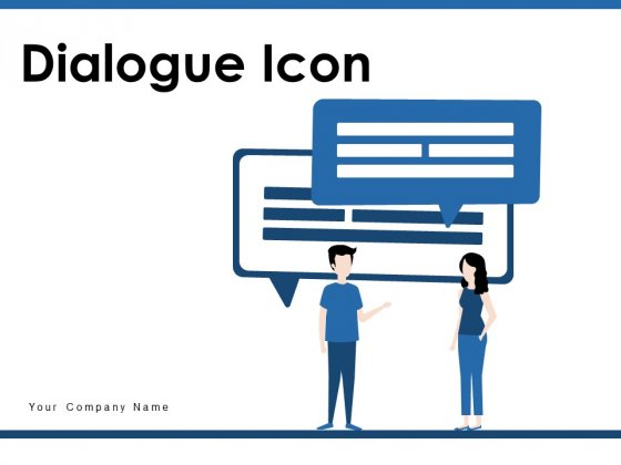 Dialogue Icon Employee Executives Icon Ppt PowerPoint Presentation Complete Deck