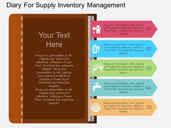 Diary For Supply Inventory Management Powerpoint Template