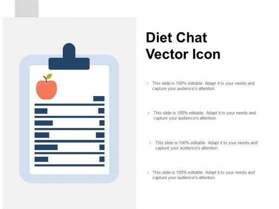 Diet Chat Vector Icon Ppt PowerPoint Presentation Ideas Microsoft