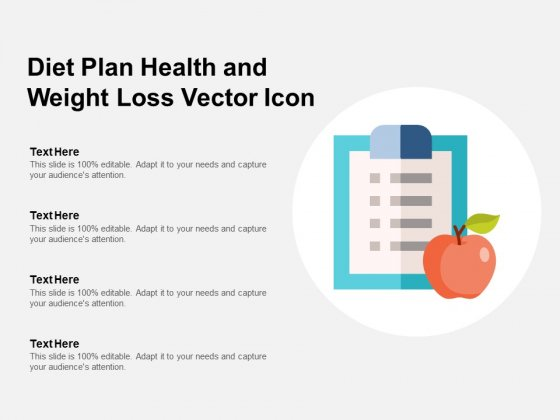 Diet Plan Health And Weight Loss Vector Icon Ppt Powerpoint Presentation Gallery Backgrounds