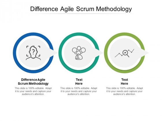 Difference Agile Scrum Methodology Ppt PowerPoint Presentation Slides Topics Cpb