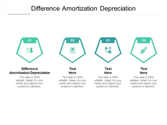 Difference Amortization Depreciation Ppt PowerPoint Presentation Show Brochure Cpb