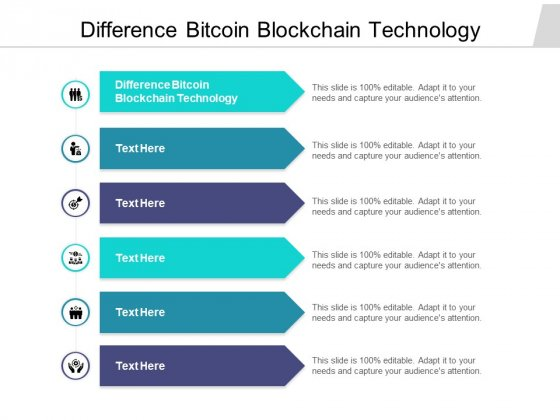 Difference Bitcoin Blockchain Technology Ppt PowerPoint Presentation Infographics Slideshow Cpb Pdf