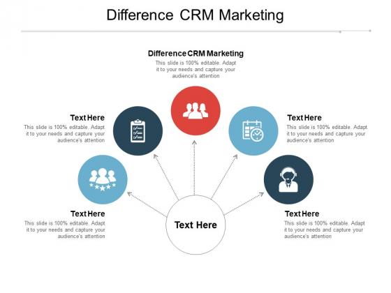 Difference CRM Marketing Ppt PowerPoint Presentation Slides Master Slide