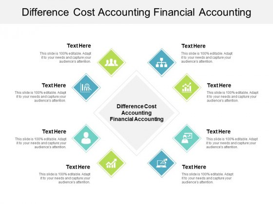 Difference Cost Accounting Financial Accounting Ppt PowerPoint Presentation Templates Cpb