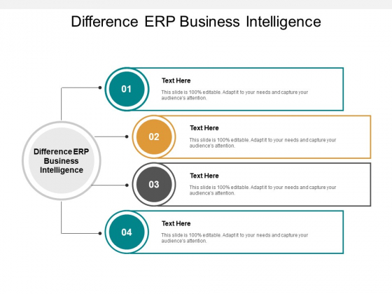 Difference ERP Business Intelligence Ppt PowerPoint Presentation Portfolio Structure Cpb