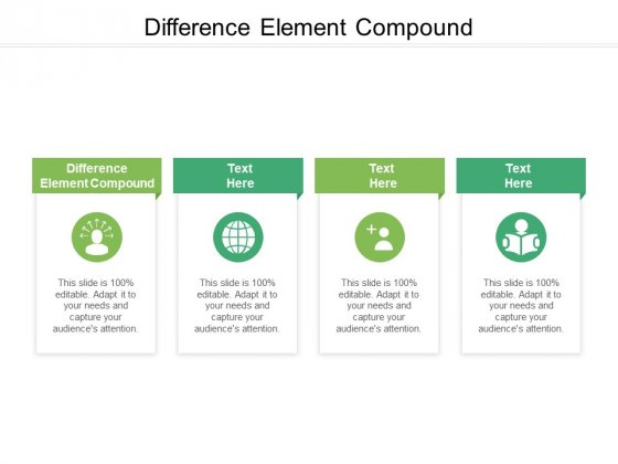 Difference Element Compound Ppt PowerPoint Presentation Gallery Rules Cpb Pdf