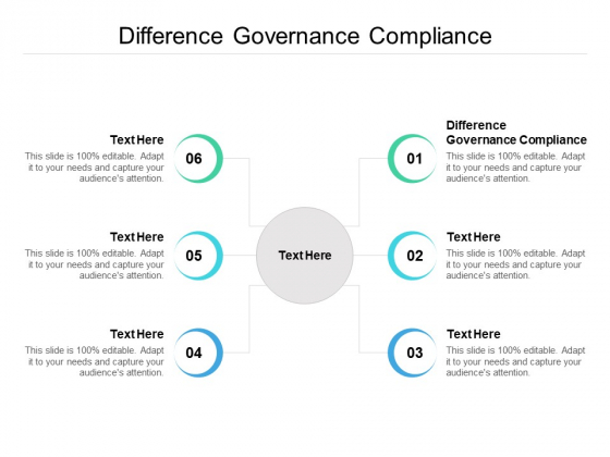 Difference Governance Compliance Ppt PowerPoint Presentation Ideas Example Introduction Cpb