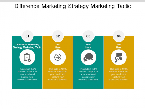 Difference Marketing Strategy Marketing Tactic Ppt PowerPoint Presentation Inspiration Example Topics Cpb Pdf