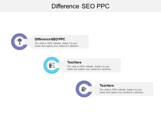 Difference SEO PPC Ppt PowerPoint Presentation Portfolio Slide Cpb