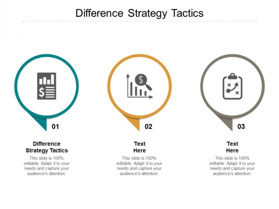 Difference Strategy Tactics Ppt PowerPoint Presentation Outline Background Cpb
