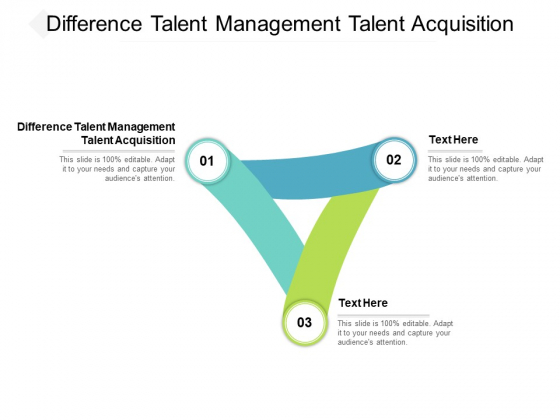 Difference Talent Management Talent Acquisition Ppt PowerPoint Presentation Icon Smartart Cpb