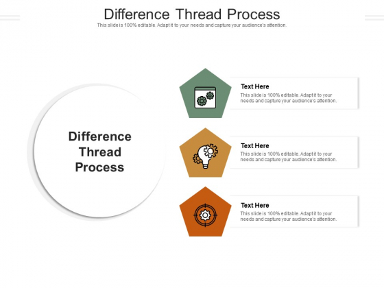 Difference Thread Process Ppt PowerPoint Presentation Professional Background Designs Cpb Pdf