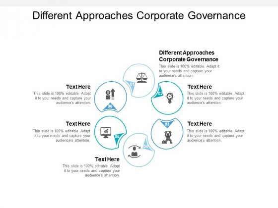 Different Approaches Corporate Governance Ppt PowerPoint Presentation Gallery Slides Cpb