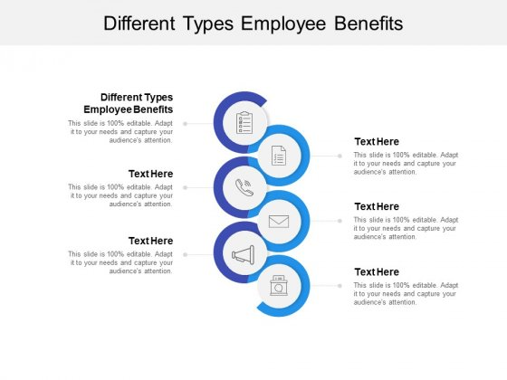 Different Types Employee Benefits Ppt PowerPoint Presentation Ideas Design Templates Cpb