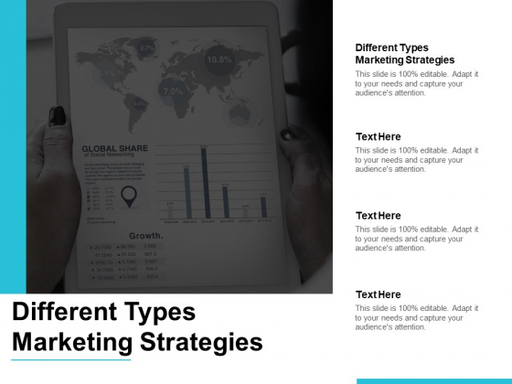 Different Types Marketing Strategies Ppt PowerPoint Presentation Pictures Model Cpb